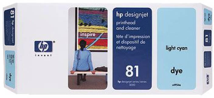 HP 81 Light Cyan Printhead and Printhead Cleaner