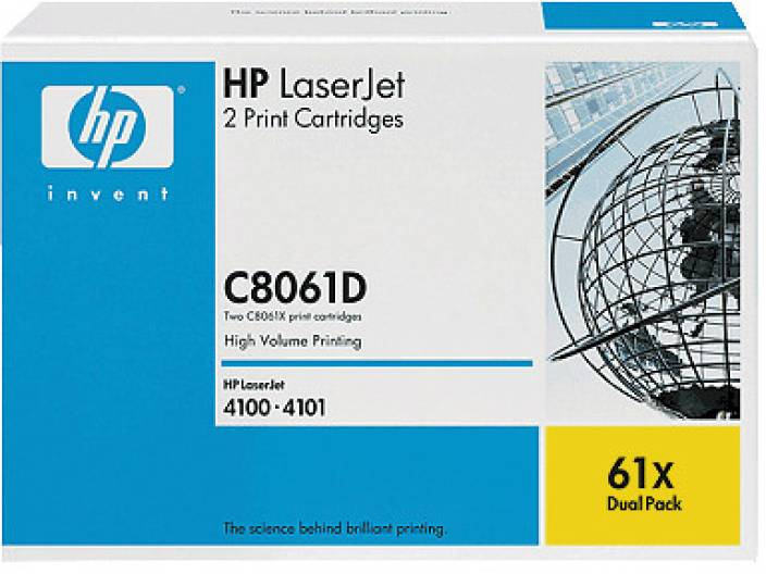 HP 61X Black Dual Pack LaserJet Toner Cartridges