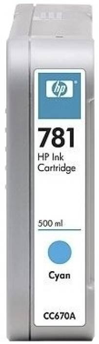 HP 781 500-ml Cyan Ink Cartridge