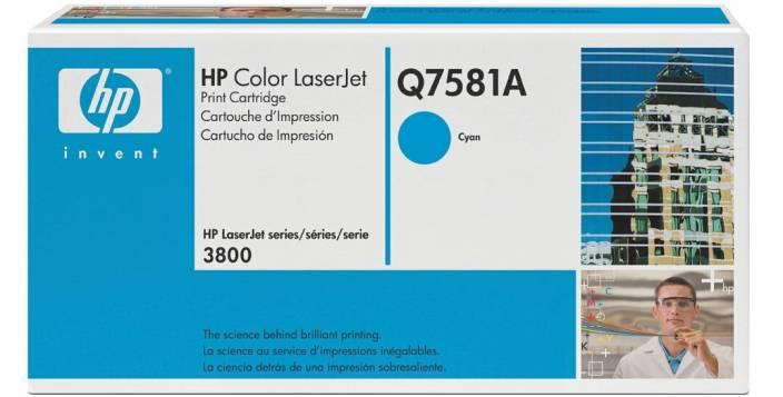 HP Color LaserJet Q7581A Cyan Print Cartridge
