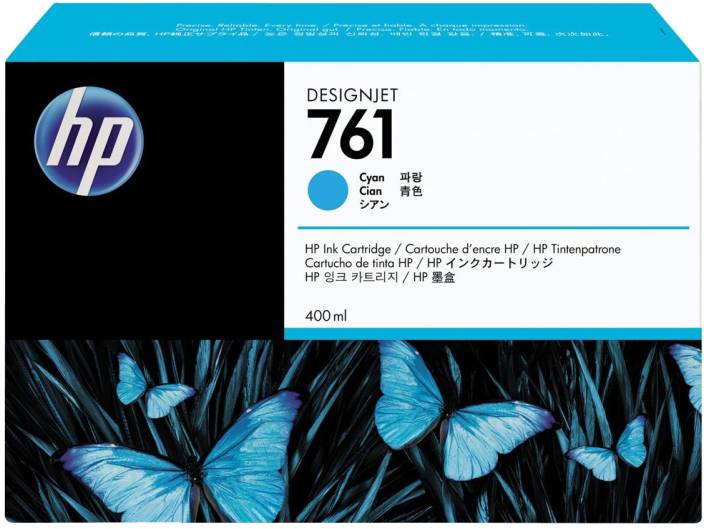 HP 761 400 ml Cyan Designjet Ink Cartridge