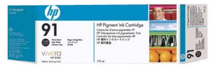 HP 91 3 pack 775 ml Photo Black Ink Cartridges