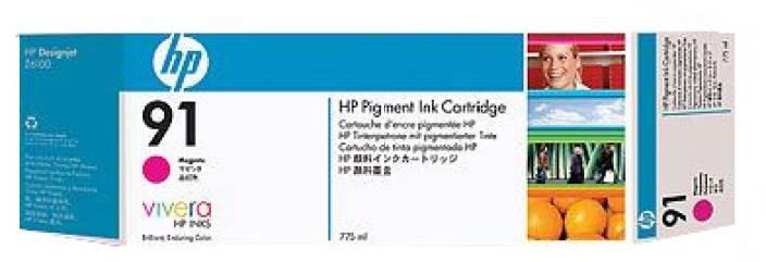 HP 91 3 pack 775 ml Magenta Ink Cartridges