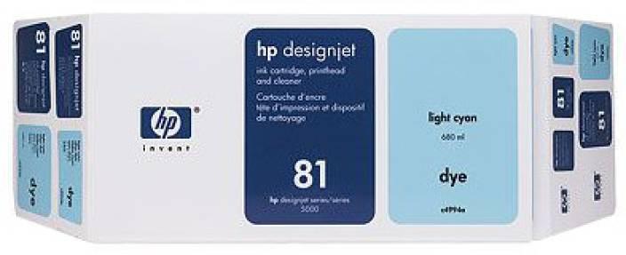HP 81 Light Cyan Dye Value Pack 680 ml Ink Cartridge