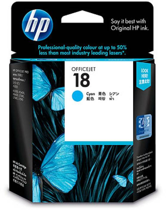 HP 18 Cyan Ink Cartridge
