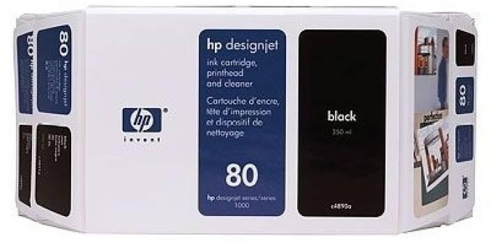 HP 80 Value Pack 350 ml Black Ink Cartridge and Printhead