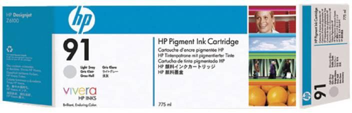 HP 91 3 pack 775 ml Light Gray Ink Cartridges