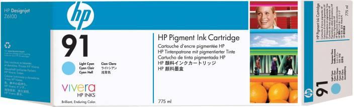 HP 91 3 pack 775 ml Light Cyan Pigment Ink Cartridges
