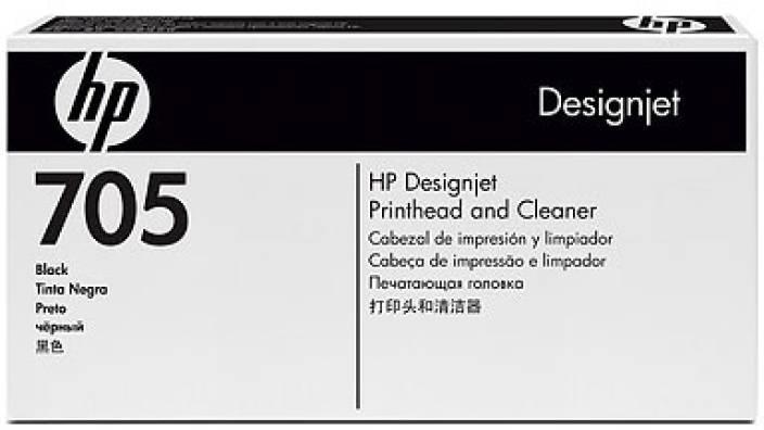 HP 705 Black Printhead and Printhead Cleaner