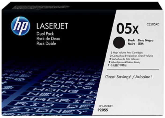 HP 05X Black Dual Pack LaserJet Toner Cartridges
