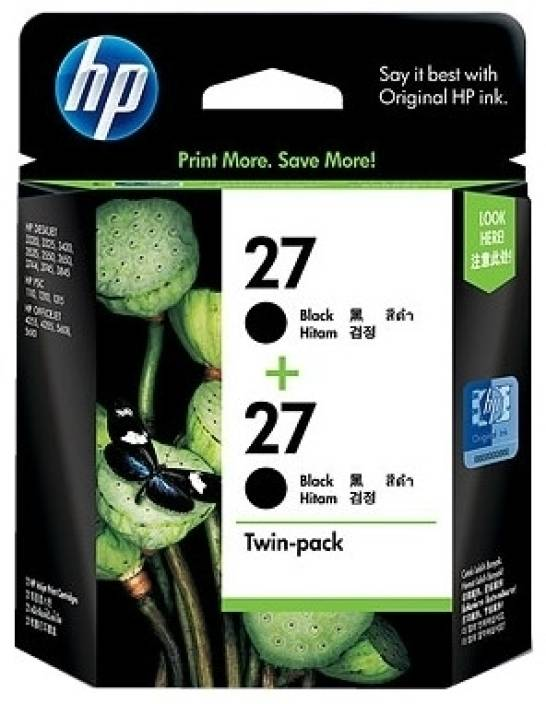 HP 27 2-Pack Black Ink Cartridges