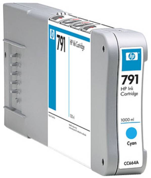 HP 791 1000-ml Cyan Ink Cartridge