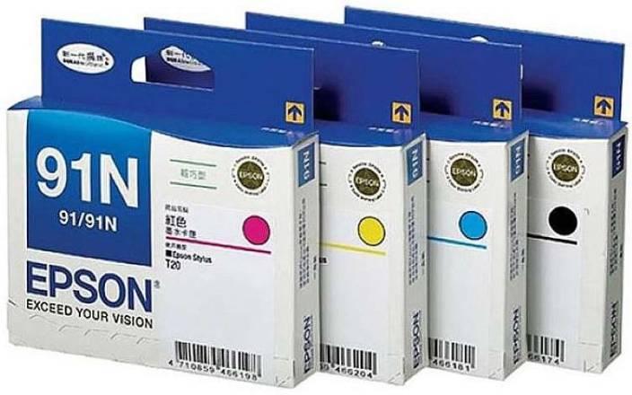 Epson 91 N B C Y M Set Of 4 Multi Color Ink Cartridge Black Magenta Cyan Yellow