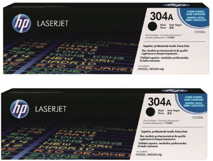 HP 304A Black Dual Pack Laserjet Toner Cartridges
