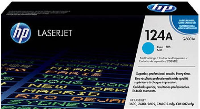 HP 124A Cyan LaserJet Toner Cartridge