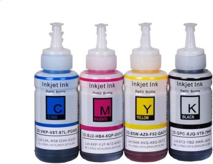 Print Cartridge Epson L210 INK SET Multi Color Ink