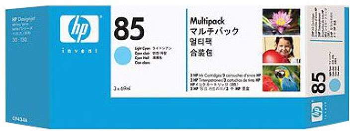 HP 85 3-pack 69-ml Light Cyan Cartridges