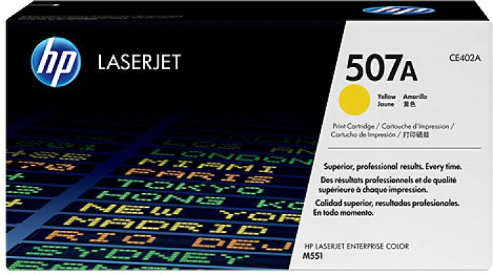 HP 507A Yellow LaserJet Toner Cartridge