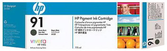 HP 91 Matte Black Ink Cartridge