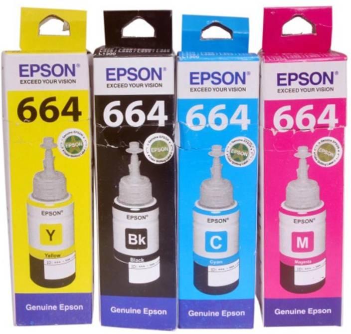 Epson For L100/L200/L210/L220/L300/L350/L500 Multi Color Ink Cartridge