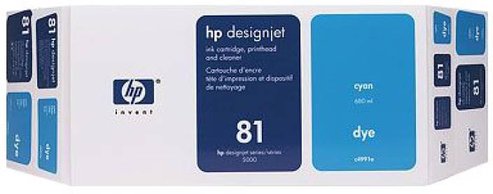 HP 81 Cyan Dye Value Pack 680 ml Ink Cartridge