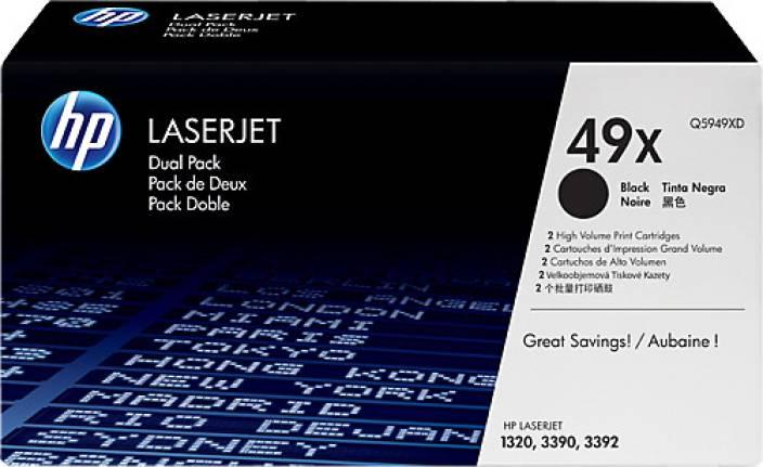 HP 49X Black Dual Pack LaserJet Toner Cartridge