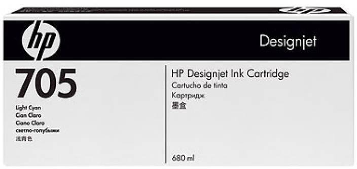 HP 705 Light Cyan Ink Cartridge