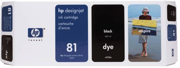 HP 81 680 ml Black Dye Ink Cartridge