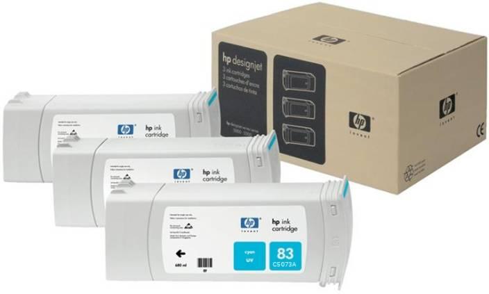HP 83 3-pack 680-ml Cyan UV Cartridges
