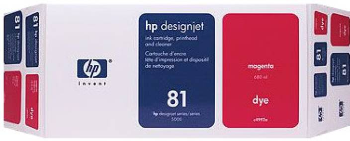 HP 81 Magenta Dye Value Pack 680 ml Ink Cartridge
