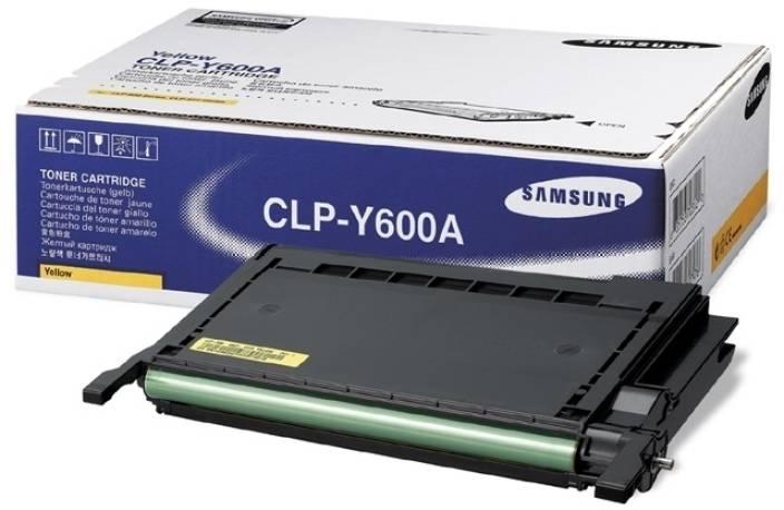 Samsung CLP Y600A Yellow Toner Cartridge