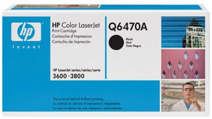 HP Color LaserJet Q6470A Black Toner Cartridge