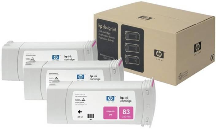 HP 83 3-pack 680-ml Magenta UV Cartridges