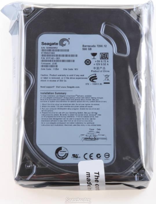Seagate Barracuda 500 GB Desktop Internal Hard Disk Drive (ST3500320NS)