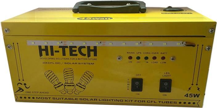 Hi Tech 45W-UPS-With Battery 45w cfl/led mini ups Square Wave Inverter
