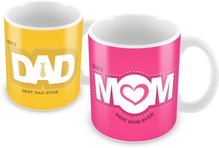 Prinzox Best Mom Dad Love You Gifts For Parents Ceramic Mug Price In