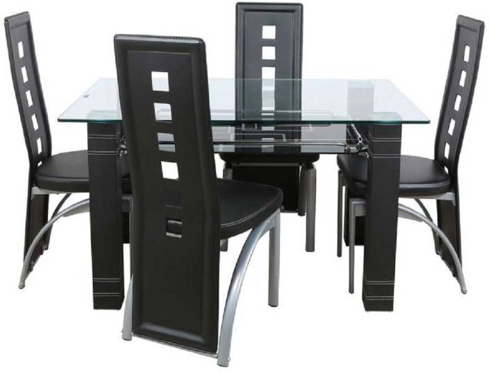 glass dining table sets india. parin glass 4 seater dining set table sets india t