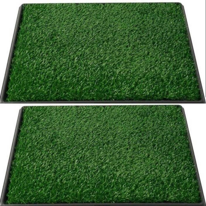 Grassyoga Polypropylene Door Mat Artificial (natural look) grass green soft and durable door rug (1.5*3 Feet)