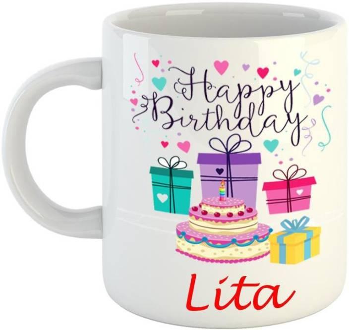 Dream web Happy Birthday Lita Ceramic Mug