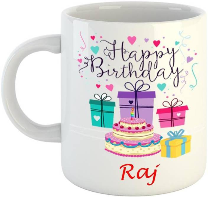 Dream Web Happy Birthday Raj Ceramic Mug Price In India Buy