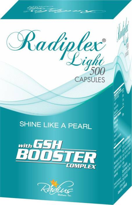 Radiplex Light 500mg Capsules - An Ultimate Glutathione Product For Skin Whitening