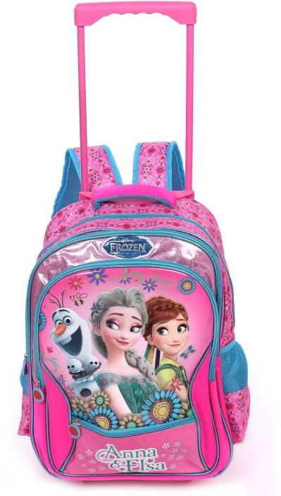 7555702184 Frozen Anna   Elsa 16 inches Trolley Bag MBE-WDP0671 School Bag  (Multicolour