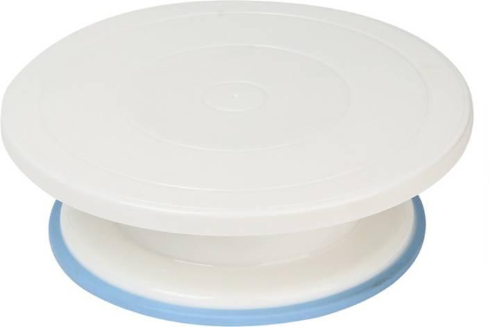 Gade Decorating Revolving Turntable, 28cm, White Plastic Cake Server