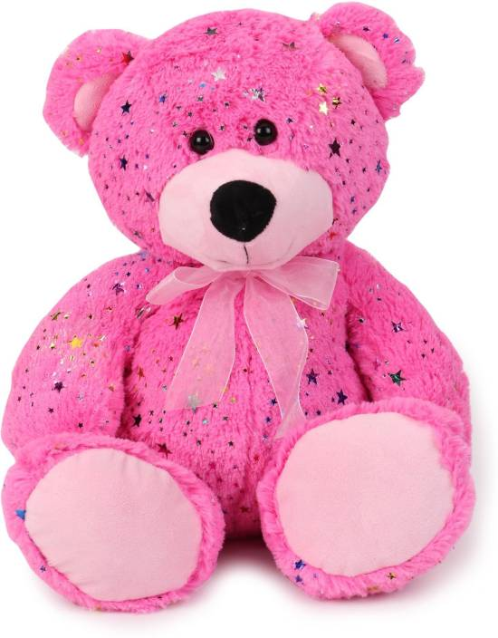 Starwalk Bear Plush Pink Color with Bow 35 cm  - 35 cm