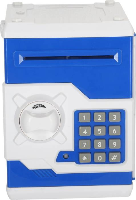 Aarushi Pword Electronic Money Bank Mini Atm Coin Saving Banks Piggy Toys Gifts