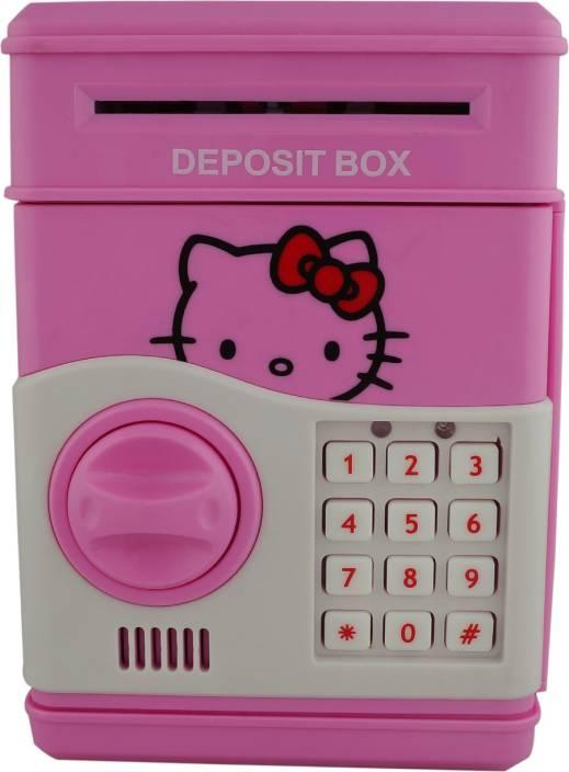 Aarushi Pword Electronic Money Bank Mini Atm Coin Saving Banks Piggy Cash