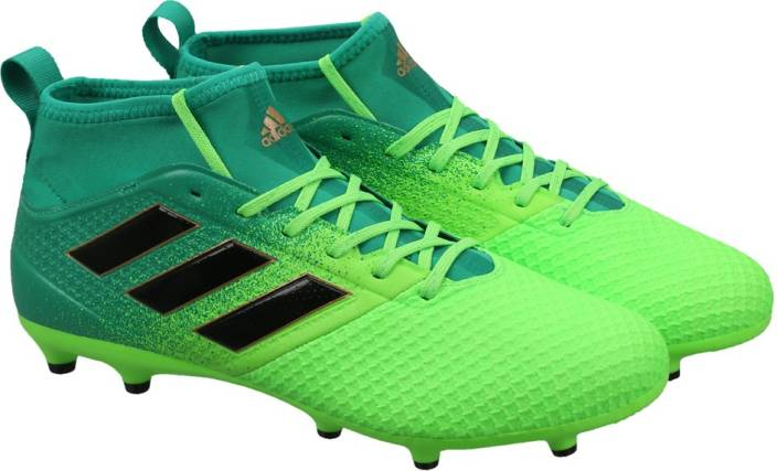 innovative design c7e99 7fee9 ADIDAS ACE 17.3 PRIMEMESH FG Football Shoes For Men (Green, Black)
