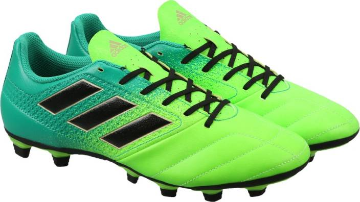 uk availability 3a01c 48552 ADIDAS ACE 17.4 FXG Football Shoes For Men (Green)