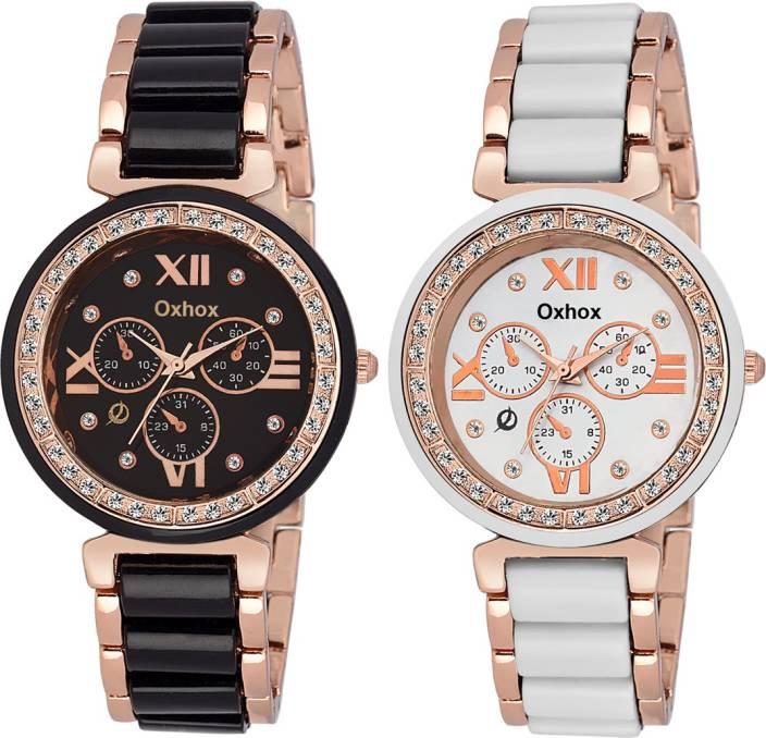 Oxhox Mac Chronograph Pattern Watch  - For Women