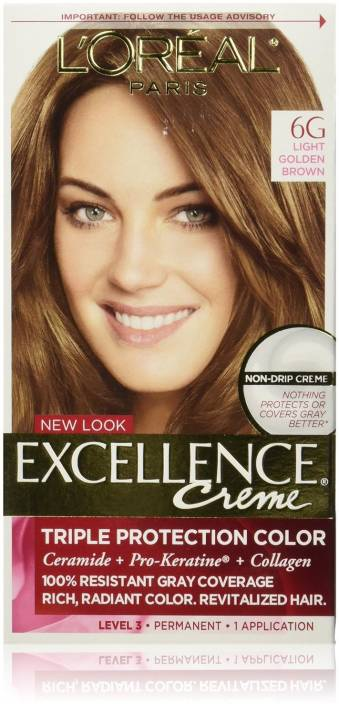 L Oreal Paris Excellence Creme 6g Light Golden Brown Hair Color